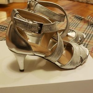 Style & Co Shoes - New Style &Co silver heels size 5.5